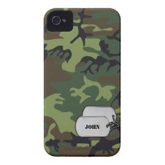 Verde y camuflaje militar de la selva de Brown Case-Mate iPhone 4 Cárcasas
