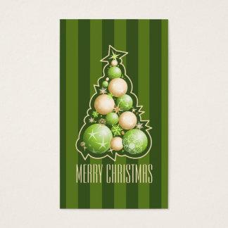 Verde y etiqueta del regalo del árbol de navidad