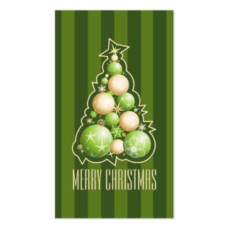 Verde y etiqueta del regalo del árbol de navidad tarjetas de visita