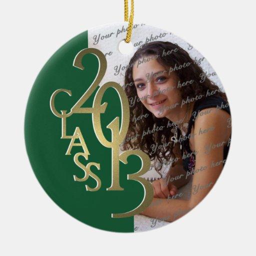 Verde y foto 2013 de la graduación de la clase del ornamento de reyes magos