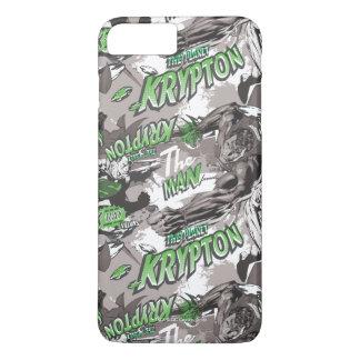 Verde y gris del criptón funda para iPhone 8 plus/7 plus