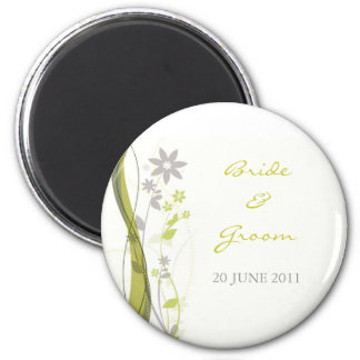 Verde y imán floral gris claro del encanto