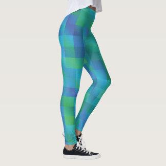 Verde y marina de guerra asimétricos leggings