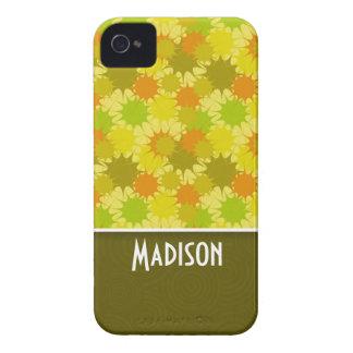 Verde y naranja Retro Case-Mate iPhone 4 Cárcasa