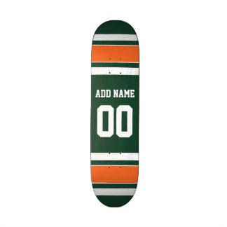 Verde y número conocido de encargo de las rayas patin personalizado