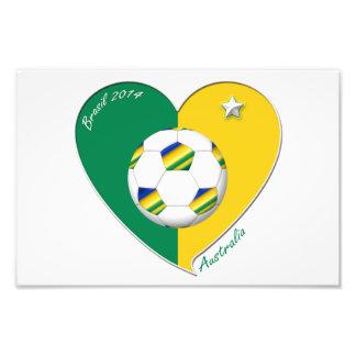 Verde y Oro AUSTRALIA FÚTBOL equipo nacional 2014 Fotos