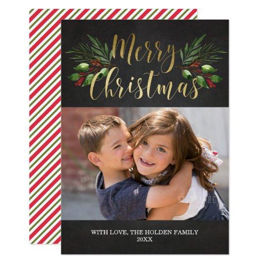 Verdor del navidad invitación 12,7 x 17,8 cm