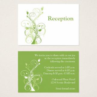 Verdor, tarjeta floral blanca del recinto de la