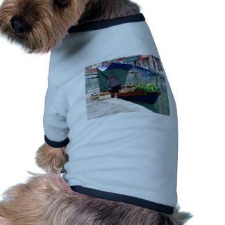 Verdulero flotante en Venecia Camiseta Con Mangas Para Perro