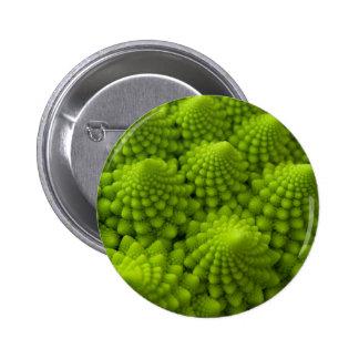Verdura del fractal del bróculi de Romanesco Chapa Redonda De 5 Cm