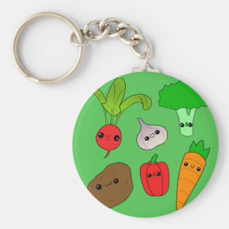 Verduras de Chibi Llaveros Personalizados