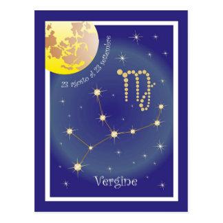 Vergine 23 al 23 tarjeta postal settembre agosto