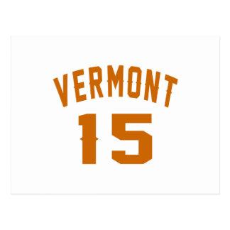 Vermont 15 diseños del cumpleaños postal