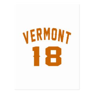 Vermont 18 diseños del cumpleaños postal