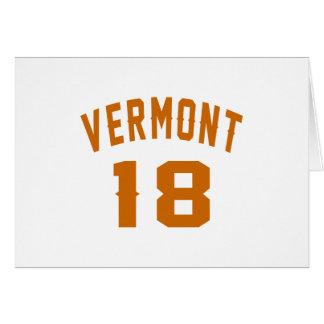 Vermont 18 diseños del cumpleaños tarjeta