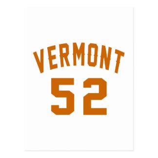 Vermont 52 diseños del cumpleaños postal