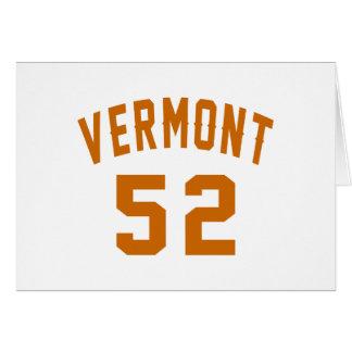 Vermont 52 diseños del cumpleaños tarjeta