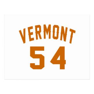 Vermont 54 diseños del cumpleaños postal
