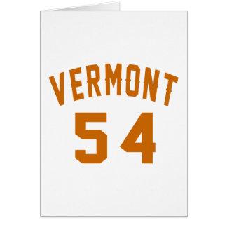 Vermont 54 diseños del cumpleaños tarjeta