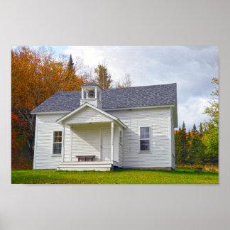 Vermont una escuela del sitio póster