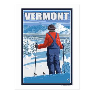 VermontSkier que admira la visión Postal