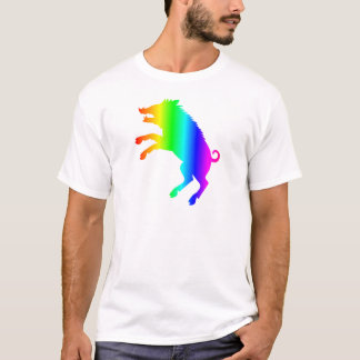 Verraco del arco iris camiseta