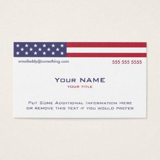 Versión 2 de bandera americana tarjeta de negocios