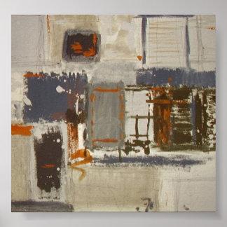 Versión del poster de una pintura abstracta única