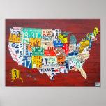 Versión del rojo del mapa 2011 de la placa de Esta Impresiones