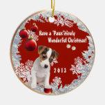 Versión dos del navidad que ofrece este Jack Russe Ornaments Para Arbol De Navidad
