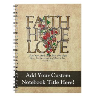 Verso cristiano de la biblia del amor de la espera libros de apuntes con espiral
