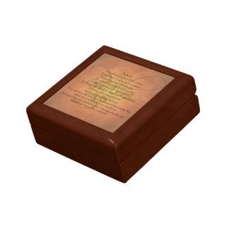Verso cristiano de la biblia del salmo 23 KJV Caja De Regalo