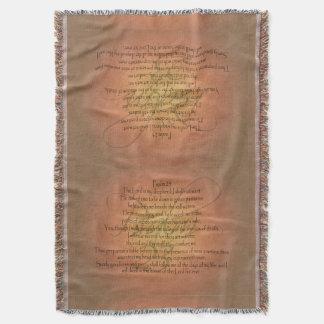 Verso cristiano de la biblia del salmo 23 KJV Manta