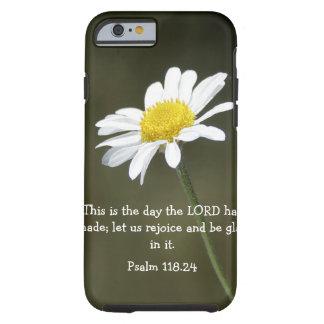 Verso de la biblia del salmo y caso del iPhone 6 Funda Para iPhone 6 Tough