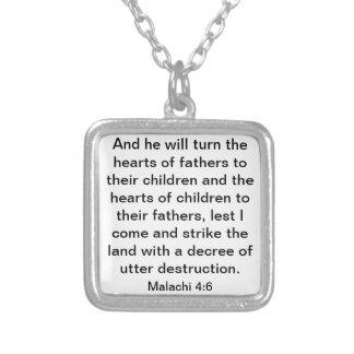 verso de la biblia para el collar del 4 6 de Malac