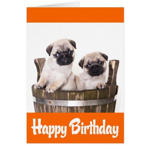 Verso de la tarjeta de felicitación de los perros