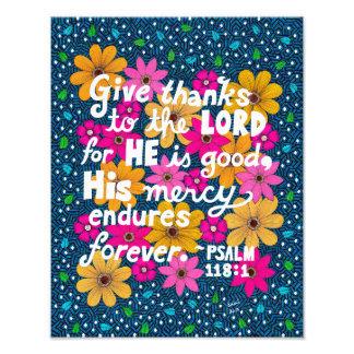 Verso floral colorido lindo de la biblia de la foto