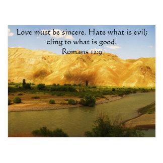 Verso inspirado   de la biblia del 12:9 de los postal