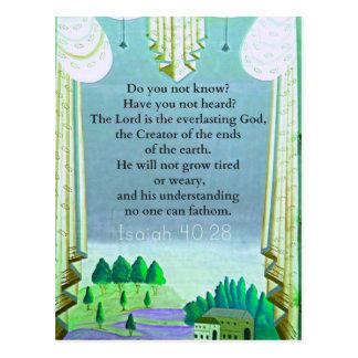 Verso inspirado de la BIBLIA del 40:28 de Isaías Postal