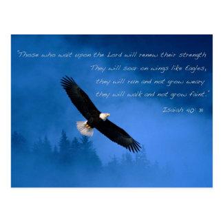 Verso inspirado Isaías de la biblia Postal