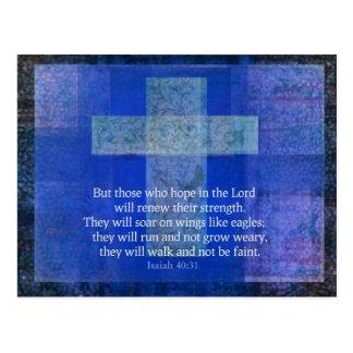 Verso Isaías 40 de la biblia: - cristiano de 31 co Postal