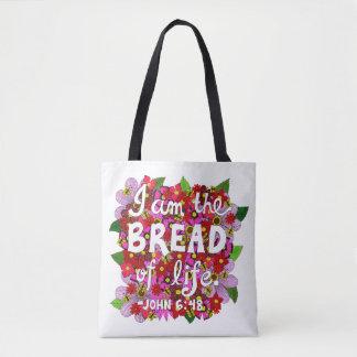 Verso rosado de la biblia de la tipografía del bolso de tela