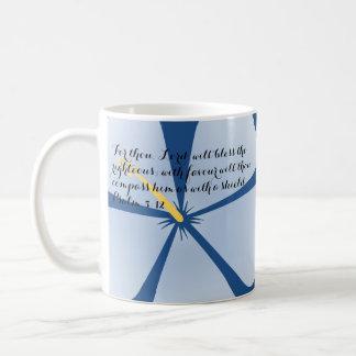 Verso tropical azul de la biblia de la taza del