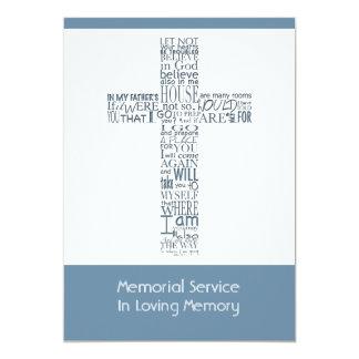 Versos de la biblia de la ceremonia conmemorativa invitación 12,7 x 17,8 cm