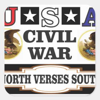 Versos del norte de la guerra civil de los pegatina cuadrada