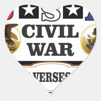 Versos del norte de la guerra civil de los pegatina en forma de corazón