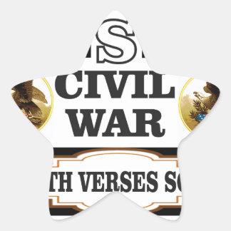 Versos del norte de la guerra civil de los pegatina en forma de estrella