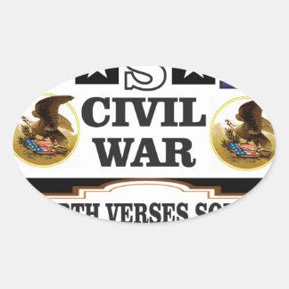 Versos del norte de la guerra civil de los pegatina ovalada
