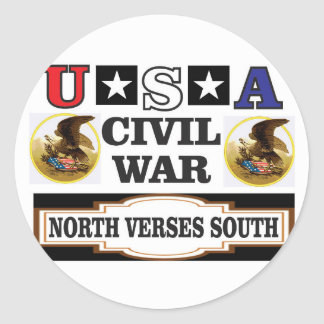 Versos del norte de la guerra civil de los pegatina redonda