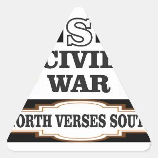Versos del norte de la guerra civil de los pegatina triangular